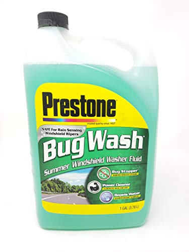 (Prestone Bug Wash - Summer Windshield Washer Fluid - Safe for Rain Sensing Windshield Wipers - 1 Gallon (3.78L))