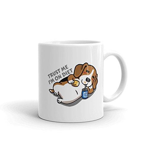 Trust Me I'm On Diet Beagle Dog Mug, Coffee Mug, Gift For Dog Mom, Gift For Dog Dad, Gift For Beagle Lover, Funny Beagle Mug, Beagle Art, 11oz, 15oz, gift (Best Diet For Beagles)