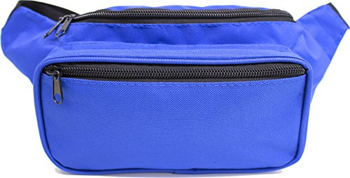 SoJourner Bags Fanny Pack - Classic Solid Bright Colors (Blue)
