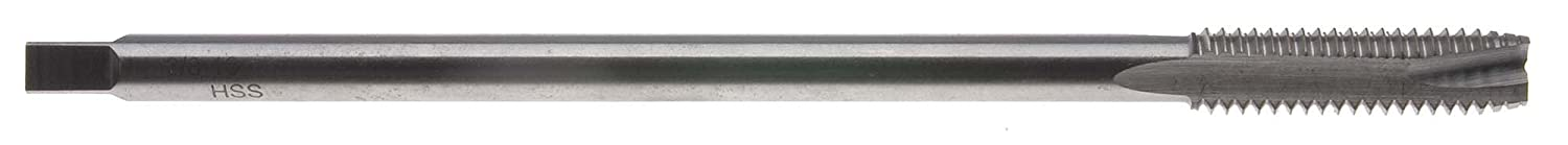 High Speed Steel #12-24 x 6 Long Spiral Point Tap with Undercut Shank