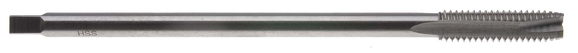 5/16-18 x 6'' Long Spiral Point Tap with Undercut Shank, High Speed Steel