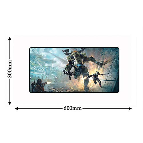 Mouse Pad 600 x 300 x 2mm Lock Edge Large Titanfalls Game Computer Rubber Mouse pad Non-Slip Keyboard Laptop Gamer Desktop Mouse pad Play mat (Mouse Pad Titanfall)