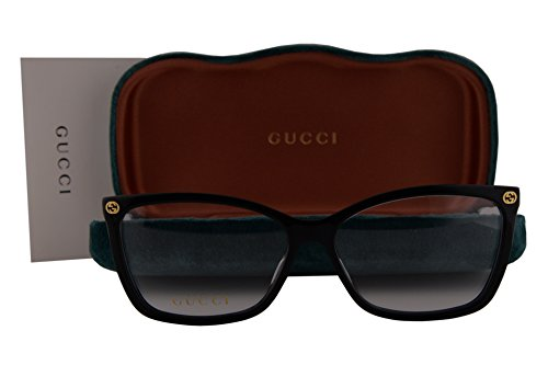 Gucci GG0025O Eyeglasses 56-14-140 Shiny Black 001 GG - Retro Sunglasses 56mm Gucci