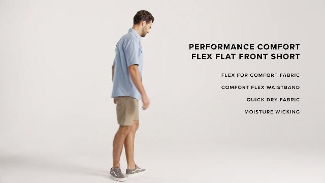 Wrangler Mens Performance Comfort Flex Flat Front Short Shorts