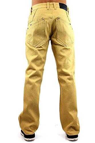 Kayden K Herren Jeanshose beige beige Einheitsgröße