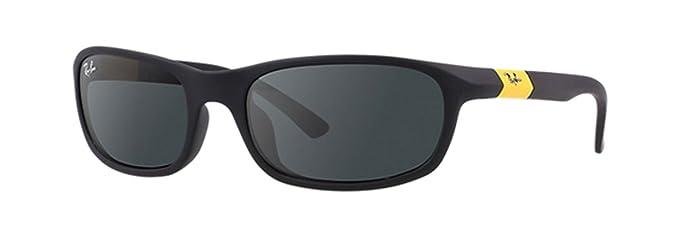 Ray-Ban 0RJ9056S Gafas de sol, Rectangulares, 50, Matte Black