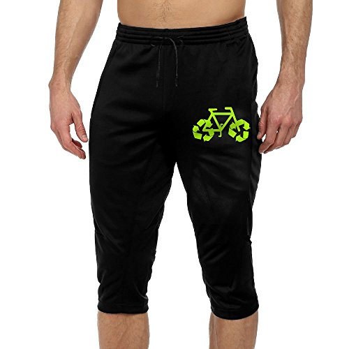 Cheap FDCYA Men's Recycle Bike Running Pants With Drawstring for sale