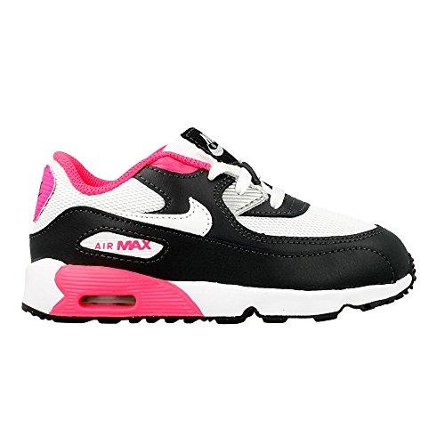 Nike Baby Jungen Air Max 90 Mesh (TD) Sneaker Schwarz (Anthrazit / Weiß-Hyper Pink)