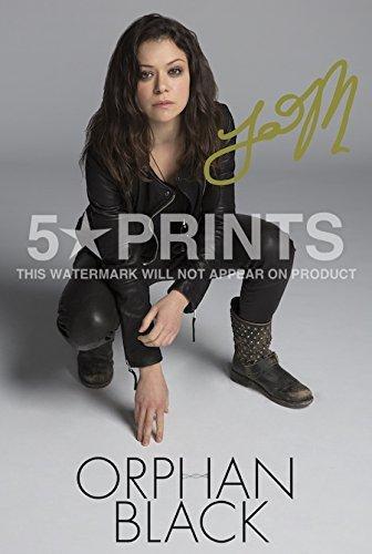 5 Star Prints Orphan Black Tatiana Maslany Poster Photo 12x8 Signed