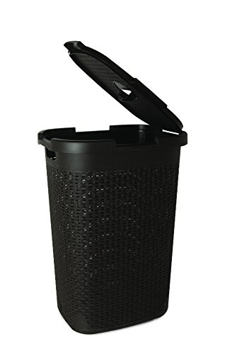 Superio Palm Luxe Laundry Hamper, Brown