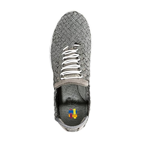 ZEEALEXIS Frauen Danielle Sneaker Zinn / weißer Boden