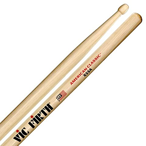 Vic Firth X55A Extreme 55A Wood Tip Drumsticks (55a Drumsticks)