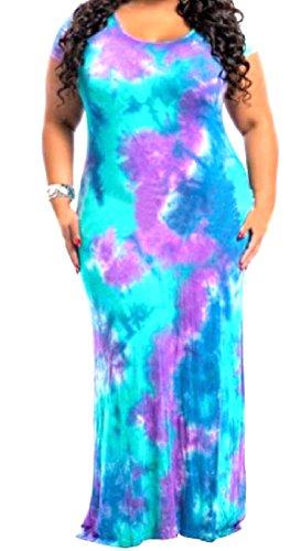 collo In Pic Dimensioni Occidentale Coolred Tie Di Forma Donne nic Dye Viola Sottile Vestito Grandi O AzqEB8w