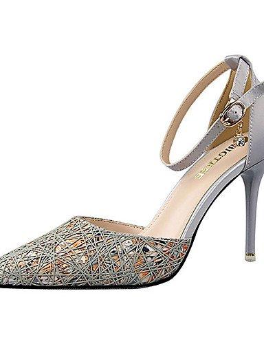 GGX/Damen Schuhe Seide Sommer Heels Heels Casual Stiletto Heel andere schwarz/grau/fuchsia gray-us8 / eu39 / uk6 / cn39