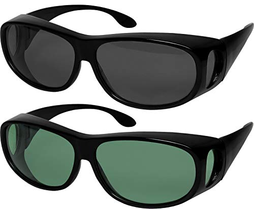 Glasses Sunglasses Fit Over Your - Fit Over Sunglasses Polarized Lens Wear Over Prescription Eyeglasses 100% UV Protection for Men and Women