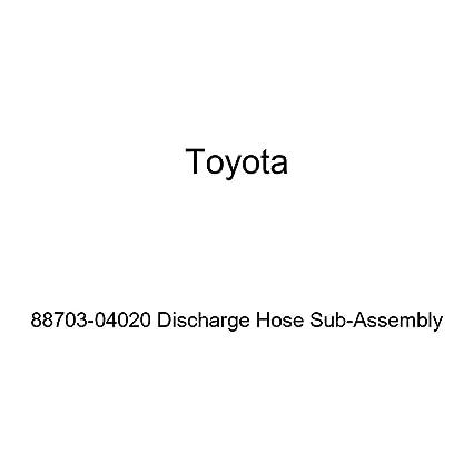 Genuine Toyota 88703-04020 Discharge Hose Sub-Assembly