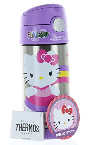 Thermos SS Vac Insulated 12oz Straw Bottle Hello Kitty WM Excel (Dress Sales Australia)