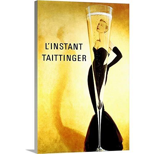 LInstant Taittinger, Vintage Poster Canvas Wall Art Print, ()