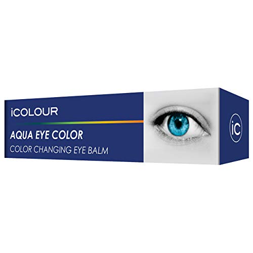 iCOLOUR Color Changing Eye Balm - Change Your Eye Color Naturally - 1 Month Supply - 4.3 g (Aqua)