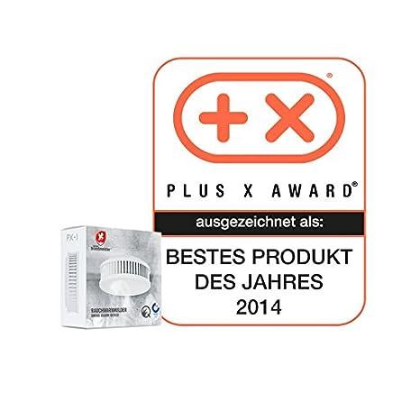 Pequeño Brand Meister PX 1 Detector de humo con 10 años de batería, fijación mediante imán, aplicación de mantenimiento, fabricado en Alemania: Amazon.es: ...