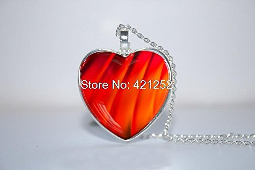 Pretty Lee 2015 Fashion Fire Of Love Pendant Heart Pendant Heart Necklace Fantasy Heart Pendant Heart Necklace Glass Photo Cabochon Necklace Christmas -