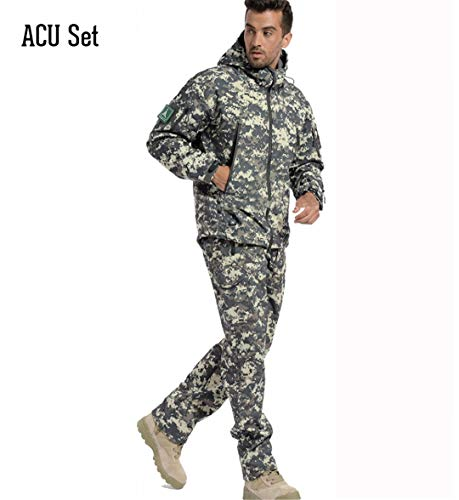 Us Army Military Men Waterproof Camo Tactical Hunting Camping Jacket Fleece Thermal Male Coat Outerwear Warm Camouflage Clothes Hiking Clothings