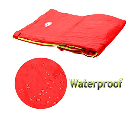 Wealers Lightweight Camping Sleeping Bag Set – Includes: Zip Up Bedroll| Self-inflating Pillow| Water Resistant Carrying Case| Storage Tote – for travel, sleepovers, overnights, hiking, and more
