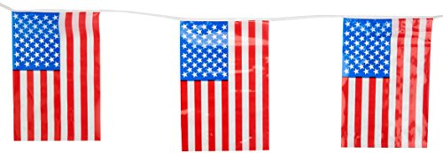 Beistle 50710 Outdoor American Flag Banner, 17 by 60-Feet ()