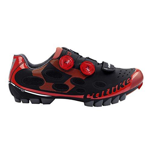 Catlike Whisper Mtb 2016, Zapatillas de Ciclismo de Montaña Unisex Adulto rojo,negro