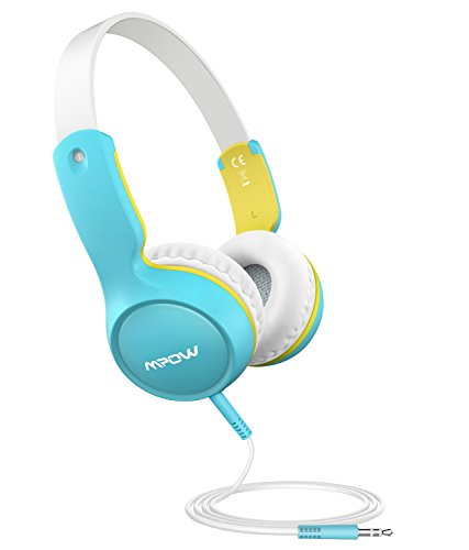 Mpow Kids Headphones, Wired On-Ear Headphone, 3-level Volume Control & 85dB Volume Limited for Protection, Comfy Design, 3.5mm Audio Jack, Safe Food Grade Material, Children Headphones for Kids by Mpow