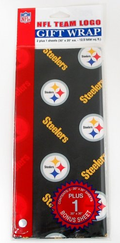 Pittsburgh Steelers Paper (NFL Pittsburgh Steelers Wrapping Paper)
