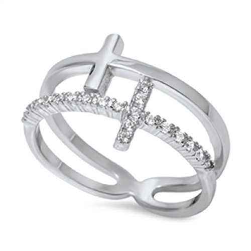 double cross ring - 3