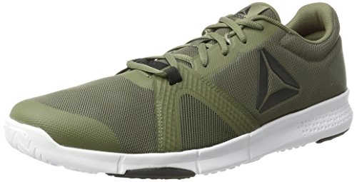 Reebok Herren Trainflex Lite Hallenschuhe Grau (Hero-hunter Green/primal Red/coal/white)