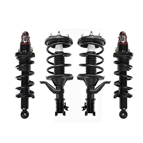 itelleti 4pcs New Front+Rear Driver & Passenger Side Quick Complete Suspension Shock Struts & Coil Springs Assembly Fit 03-05 Honda Civic 1.7L L4
