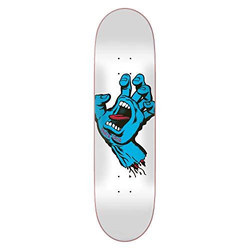 Santa Cruz Skateboard Deck Screaming Hand Taper Tip White 8.5