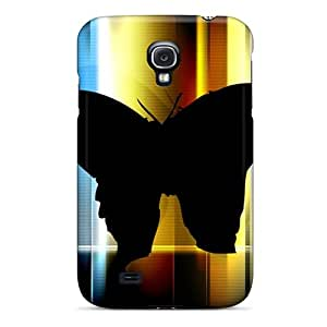 Galaxy S4 Hard Back With Bumper Silicone Gel Tpu Case Cover Butterfly