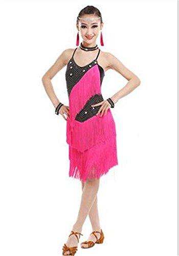 Shining Dance Show De Black Pink 170cm Latine Robe Danse Professionnelle q4WXx7I4w