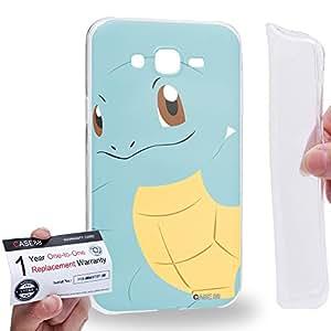 Case88 [Samsung Galaxy J7] Gel TPU Carcasa/Funda & Tarjeta de garantía - Pokemon Squirtle 0816