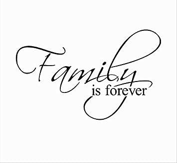 Family Is Forever Home Decor Cita Tatuajes De Pared Adesivo De ...