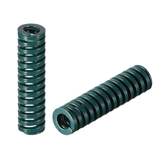 uxcell 8mm OD 30mm Long Spiral Stamping Heavy Load Compression Mould Die Spring Green 10Pcs