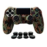 Cheap Hikfly Silicone Gel Controller Cover Protector Kits for Sony PS4 /PS4 Slim/PS4 Pro Controller Video Games(1 x Controller Cover with 8 x FPS Pro Thumb Grip Caps)(Brown)