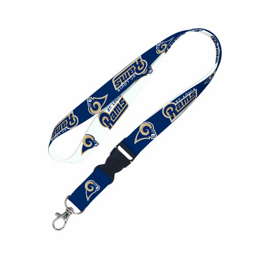 NFL St. Louis Rams Lanyard with Detachable Buckle (Louis Rams End)