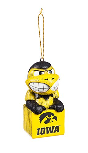Team Sports America Iowa Hawkeyes Team Mascot Ornament, One Size, Team ()
