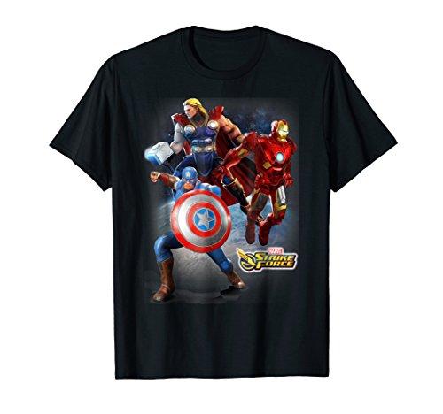 (Marvel Strike Force Earth's Avengers Graphic T-Shirt)