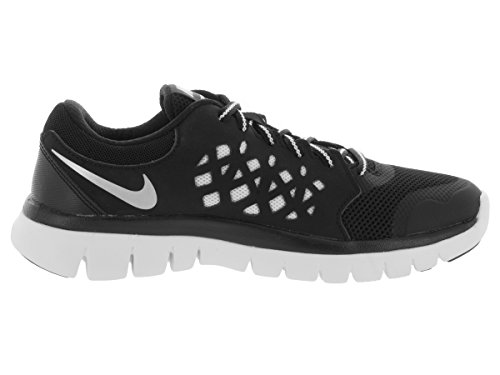 Kids' NIKE Gs Flex Rn Black Silver white Running Unisex Metallic 2015 Black Shoes Silver White UxqBwU1