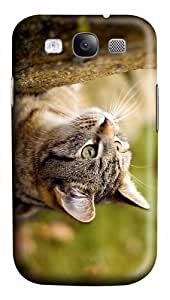 thinnest case wirehair cat PC case/cover for Samsung Galaxy S3 I9300