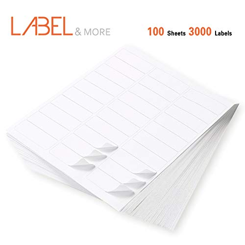 LABEL&MORE 30 up Labels FBA 1'' x 2-5/8 Self Adhesive Shipping and Mailing Address Labels Work for UPS USPS FEDEX SKU Compatible With Laser and Inkjet Printers[100 Sheets 3000 Labels] by LABEL&MORE