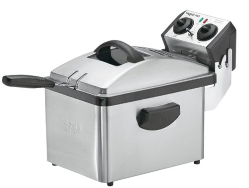 Waring DF200 Professional Deep Fryer, Brushed Stainless Steel