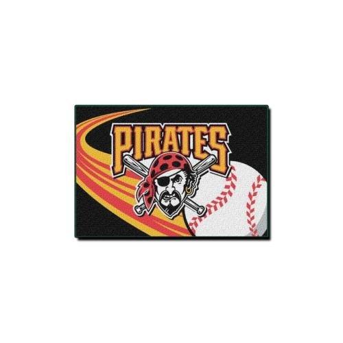 Mlb Rug - MLB Pittsburgh Pirates Licensed Tufted Rug, Yellow, 20 x 30