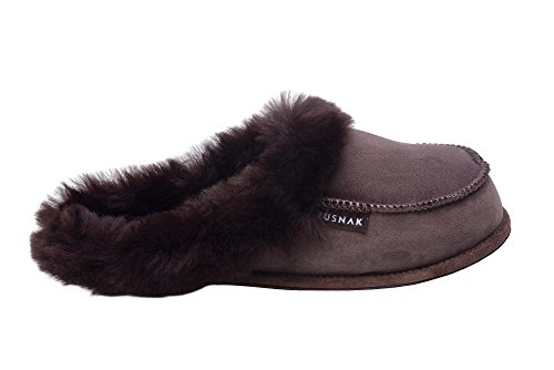 Warm Brown Leather Wool Sheepskin Soft Genuine W73 Lining Mule Rusnak Ladies Slippers ngfwPxP0q